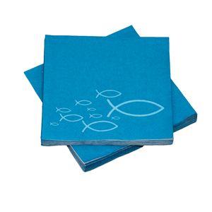 Servietten Fische türkis / blau (20 Stück) Taufe Kommunion Konfirmation