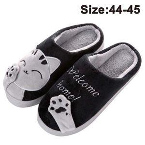 Herren Hausschuhe, Warme Plüsch Hausschuhe Indoor rutschfeste Slippers Cartoon Cat Pantoffeln Für Damen
