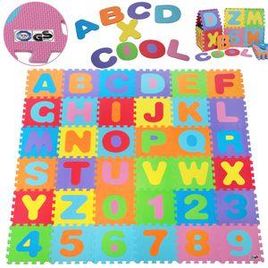 Puzzlematte 86tlg. ABC Spielmatte 3,6m² Bodenmatte Spielteppich Kinderteppich Bodenschutzmatte EVA Schaumstoff Matte Spielwerk®