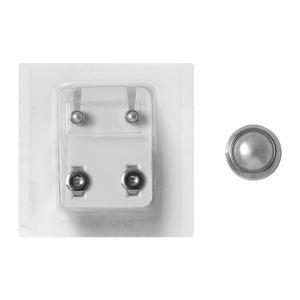1 Paar Erstohrstecker 316L Chirurgenstahl Sterile Ohrstecker Zarge mit Perle 4mm rund Ohrringe Ohrhänger Ohrschmuck