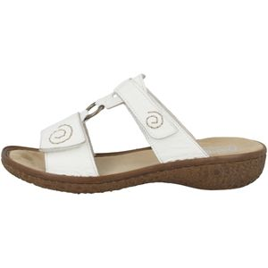 Rieker V69N2 Damen Schuhe Pantoletten Clogs, Größe:39 EU, Farbe:Weiß