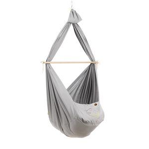 NONOMO® Baby Classic: Federwiegen-Set mit Deckenbefestigung - grau