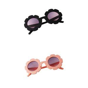 2 Stück Mode Baby Kinder Runde UV400 Sonnenbrille Kleinkind Kleinkind Brille Geschenk - Hellrosa + Schwarz Farbe Hellrosa + Schwarz