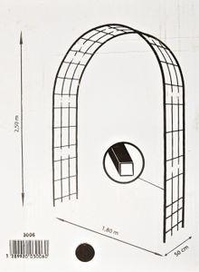 Louis Mühle 3006 Rosenbogen für Kletterpflanzen Metall Eisen 180 x 50 x 250 cm