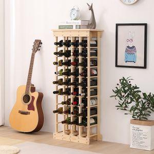 Flaschenregal Weinregal 4-teilig für 44 Flasche Flaschenständer Weinschrank Holz