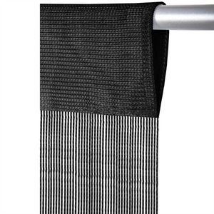 Fadenvorhang Prince, Größe: 90x250cm, Farbe: Schwarz