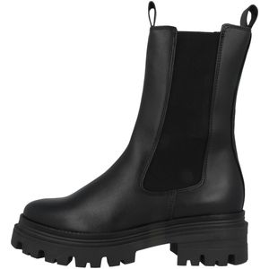 Tamaris Damen Chelsea Boots Leder Kurzschaftstiefel 1-25498-27, Größe:40 EU, Farbe:Schwarz