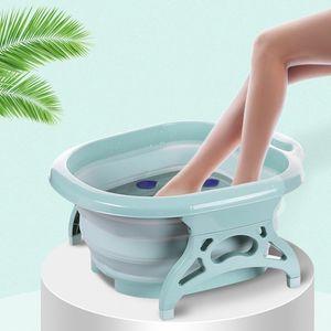 Faltbare Tragbare Fußwanne verdicktes Plastikbecken Fußbadbecken für Grün wie beschrieben