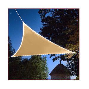 Sonnensegel mit LED Beleuchtung Sonnenschutz Windschutz Sonnenschutzsegel Dreieck