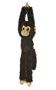 Stofftier Hängender Affe schwarz