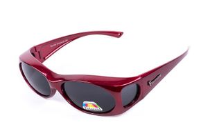 Figuretta Sonnenbrille Überbrille in Rot aus der TV Werbung Schutz Optik Style Brille GetöntSonnenschutz Sommer Sonne Urlaub Style Sonnenschein