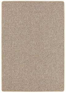 Kurzflorteppich 100 x 150 cm Beige Läufer Flachgewebe für Wohnzimmer Einfarbig pflegeleicht