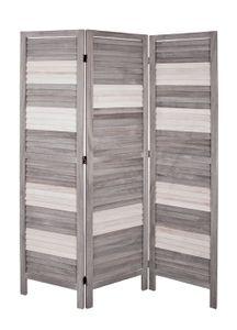 Haku Paravent grau-weiß - Maße: 120 cm x 6 cm x 170 cm; 34168