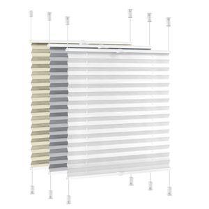 i@home Plissee 120x130cm Klemmfix - Weiß Jalousien ohne Bohren , Lichtschutz und Sichtschutz für Fenster und Tür