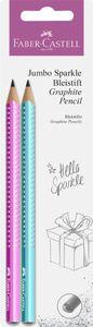 FABER-CASTELL Bleistift Jumbo GRIP SPARKLE Pearl 2 Stück