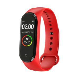 M4 Bluetooth Pulsmesser Fitness Tracker Schrittzähler Sport Smart Armband Rot ALCYONEUS1