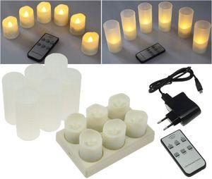 LED Kerzen mit IR-Fernbedienung, 6er-Set