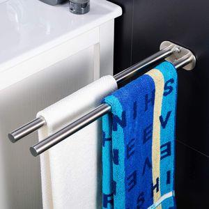 Handtuchhalter Zweiarmig Handtuchstange Bad Wandmontage Doppelt Edelstahl Gebürstet 40cm