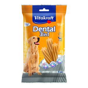 Vitakraft Dental 3in1 - Zahnpflege-Snack für Hunde ab 10 kg - 7 Sticks