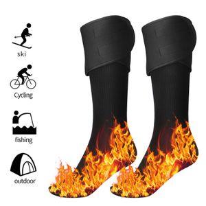 Elektrische beheizte Socken Fusswaermer fuer Maenner und Frauen, wiederaufladbare, batteriebetriebene, elektrische Heizsocken, waschbar, Winterjagd-Ski, Arthritis-Fusswaermer