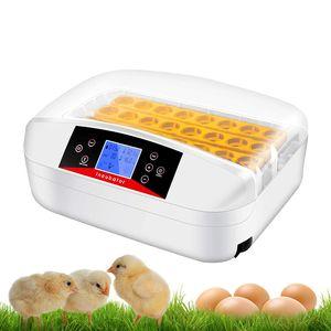 Automatische Inkubator für bis zu 32 Hühnereier Brutmaschine Motorbrüter Hühner Brutapparat mit LED Temperaturanzeige und Präzieser Temperatursensor, Temperatur und Feuchtigkeitsregulierung