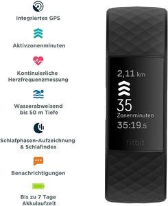 Fitbit Charge 4 Gesundheits-und Fitness-Tracker, Schwarz