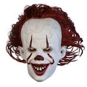 Halloween Pennywise Latex Luminous Cosplay Maske Horror Halloween Perücke