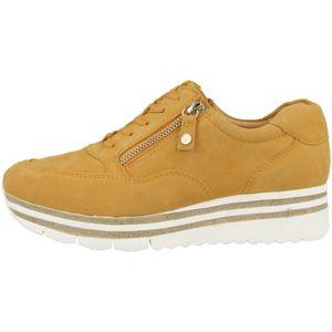 Tamaris Damen Low Sneaker Fashletics Lace UP 1-23707-26 Gelb 609 Mango Leder, Groesse:39 EU