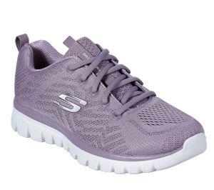 Skechers Graceful Damen Sneaker Low Violett Schuhe, Größe:40
