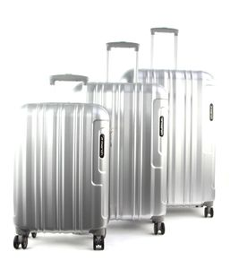 March Cosmopolitan SE Kofferset  silver alu brushed mit Rollen Kofferset