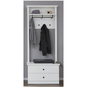 Garderobenmöbel BrandsonBaxterWohnen Weiß Nachbildung