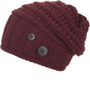 Eisbär Cullen Oversize Mütze Damen bordeaux Größe One Size
