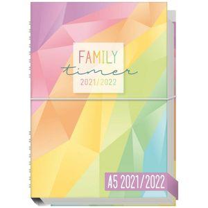 Häfft Family-Timer 2021/2022 Rainbow / A5+ / 18 Monate