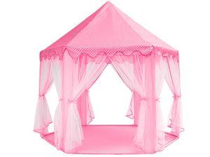Zelt Kinder Burg Prinzessinnen 3 Farben Palast Vorhänge Verzierungen Stehhöhe 89cm 6104, Farbe:Rosa/ pink