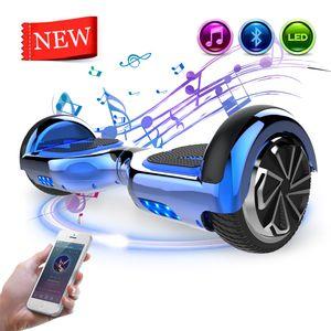 Mega Motion Hoverboard 6,5 Zoll Hoverboard mit Bluetooth Self Balance Scooter Smart Board  LED Hoverboard Kinder und Erwachsene Geschenk
