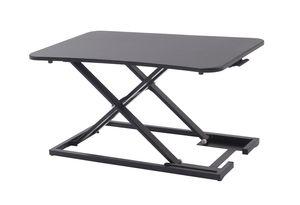 YULUKIA 100038 höhenverstellbarer ergonomischer Sitz-Steh Schreibtischaufsatz, X-Frame