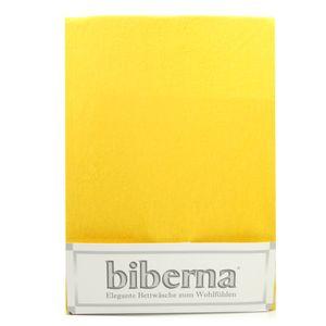 Biberna 02744-530-087 Feinbiber Spannbetttuch Maisgelb 180x200 200x200