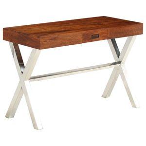 Bürotisch Vintage   PC Tisch   Arbeitstisch Gaming Tisch   für Arbeitszimmer Büro Vintage Akazienholz Massiv Palisander-Finish 110x50x76 cm - direkt vom Hersteller HOM306079