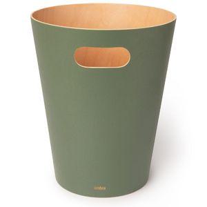 UMBRA WOODROW CAN Mülleimer 7,5 Liter Abfalleimer Papierkorb Holz salbei grün natur 082780-1095