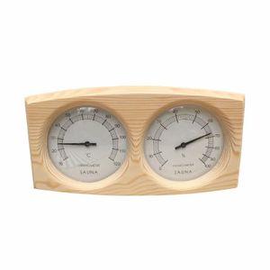Dowofuu Thermometer Hygrometer Kiefernholz für Sauna Sauna Hintergrund Sauna Zubehör