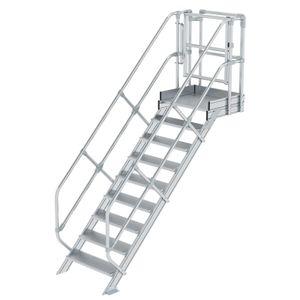 Günzburger Steigtechnik Treppen-Modul Aluminium geriffelt 7 Stufen