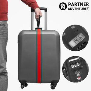 GKA Gepäckgurt mit integrierter Waage und Sicherheitscode Koffergurt Zahlenschloss Kofferwaage Waage Gurt für Koffer