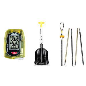 Pieps Set Micro BT Button Lawinen-Notfallausrüstung Schneeschaufel LVS Lawinensuchgerät