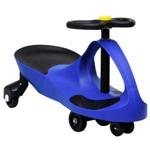 vidaXL Kinderfahrzeug Wackel-Auto Swing-Auto mit Hupe Blau