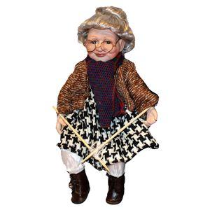 Elegante Porzellanpuppe Oma Figur Puppen Sammlerfigur Spielzeug