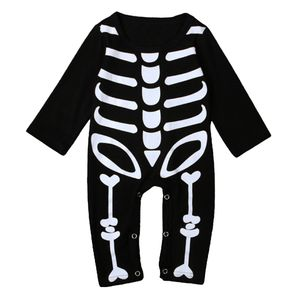 Langarm Einteiliger Baby Bodysuit Halloween Schädel Skelett Kleidung Größe XL