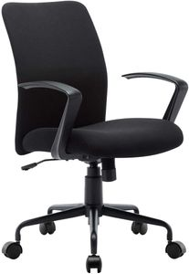 Executive Bürostuhl, 360 ° drehbarer Computer-Schreibtischstuhl, modernes Design Armlehnen und verchromte Basis