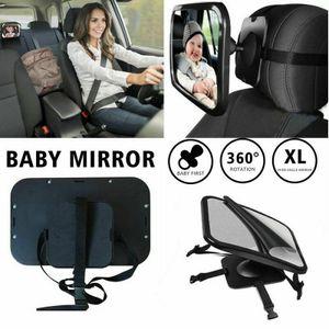 Miixia Auto Baby Spiegel - XXL Sicherheit 360° Rücksitzspiegel für Babyschale