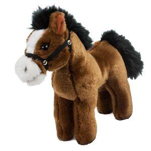 Pferd mit Sound dunkelbraun 24 cm Stofftier Plüschpferd Kuscheltier