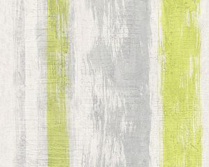 Schöner Wohnen Tapete, gelbgrün, telegrau, signalweiß, 10,05 m x 0,53 m, 944251, 94425-1